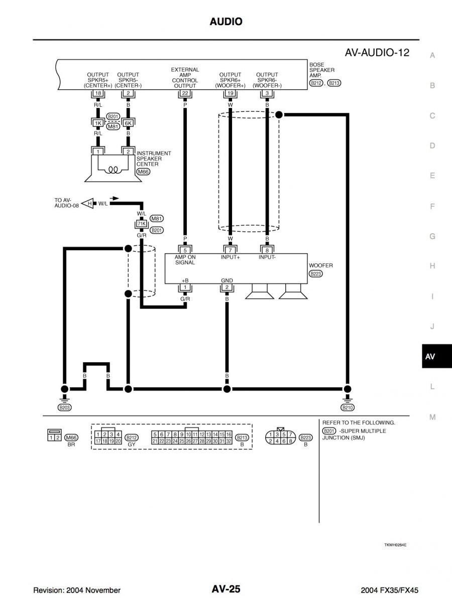 Bose Bass Enclosure amplifier: wiring diagram. | Infiniti FX ForumInfiniti FX Forum