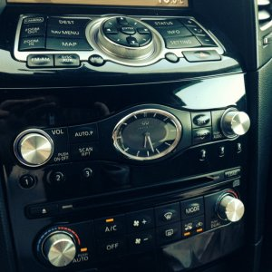 Stylish, metal buttons, radio, air conditioner, instead of the regular black rubber