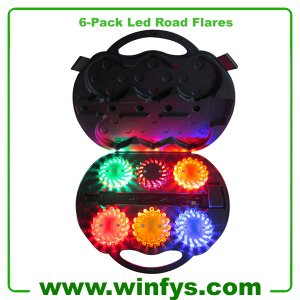 6 Pack LED Safety Flares Rechargeable Led Road Flares Led Power Flares