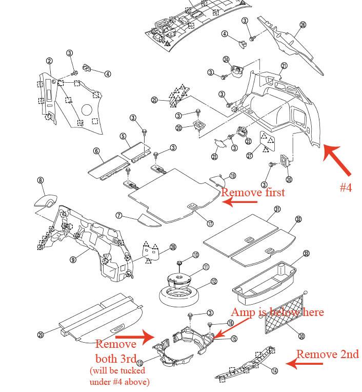 Satellite tuner prewire plug locations Infiniti FX Forum FX35 – Infiniti Fx45 Fuse Diagram